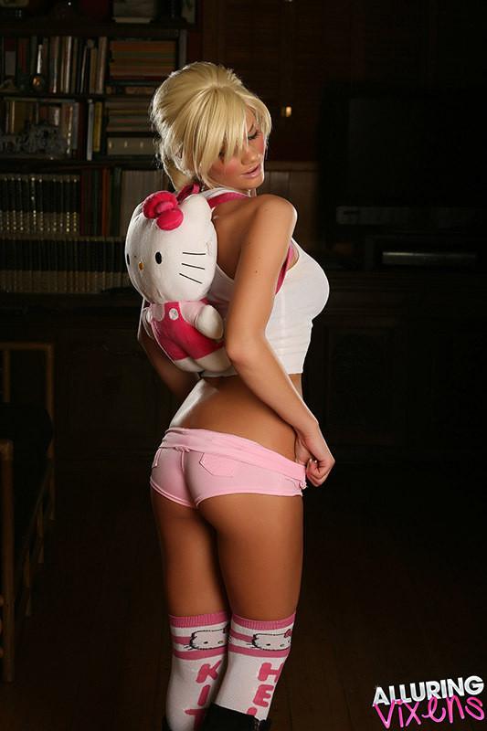 Pink boyshorts; Ass