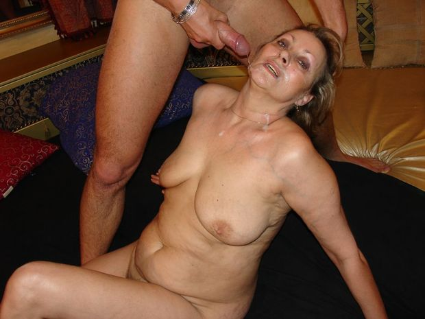 Facialized Granny; Big Tits Cumshot Mature