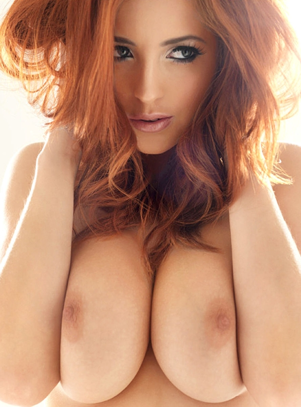 Big boobed chunky red head girl naked