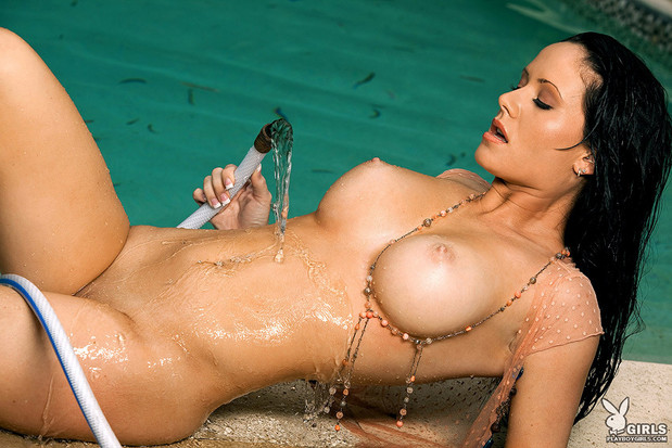 April Katherine gets all soaking wet; Babe