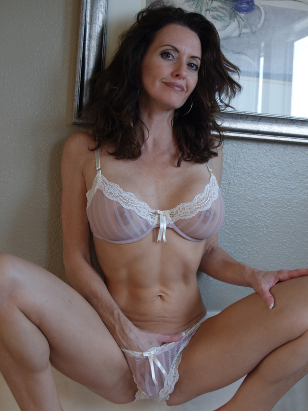 ...; Brunette Mature MILF Panties