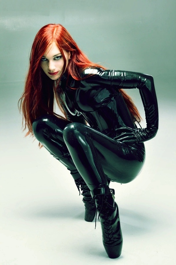 Dreamgirl; Red Head Latex SFW