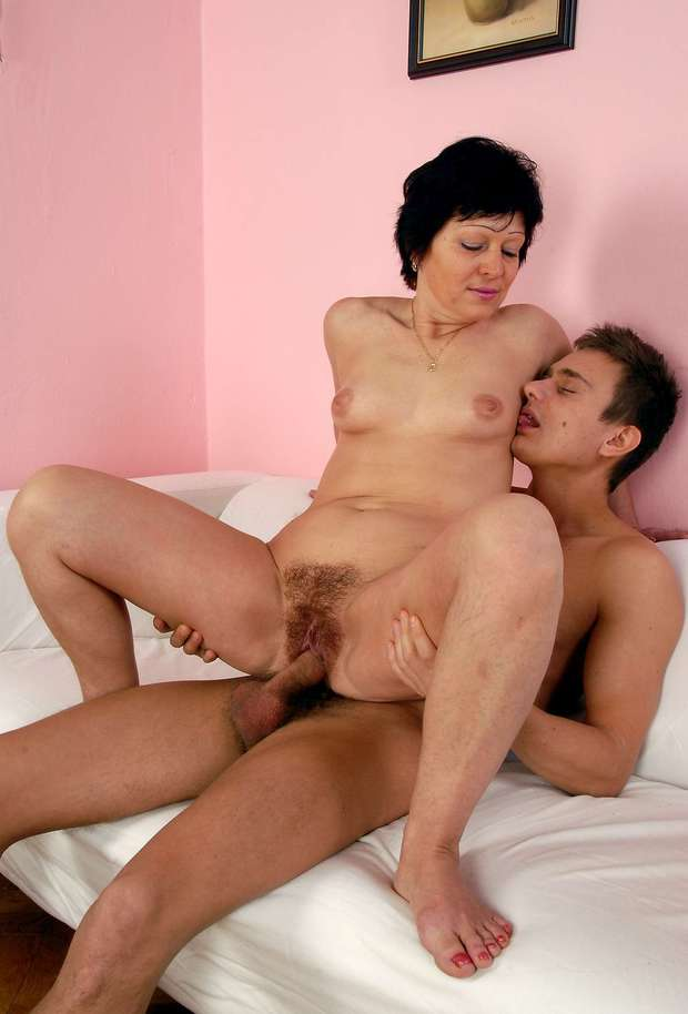 Hairy mature fucks boy