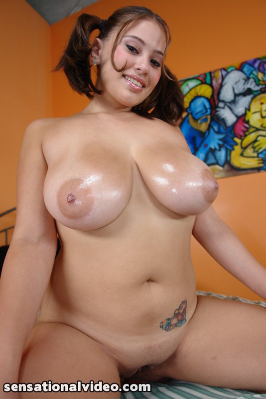 Hot latina with huge tits